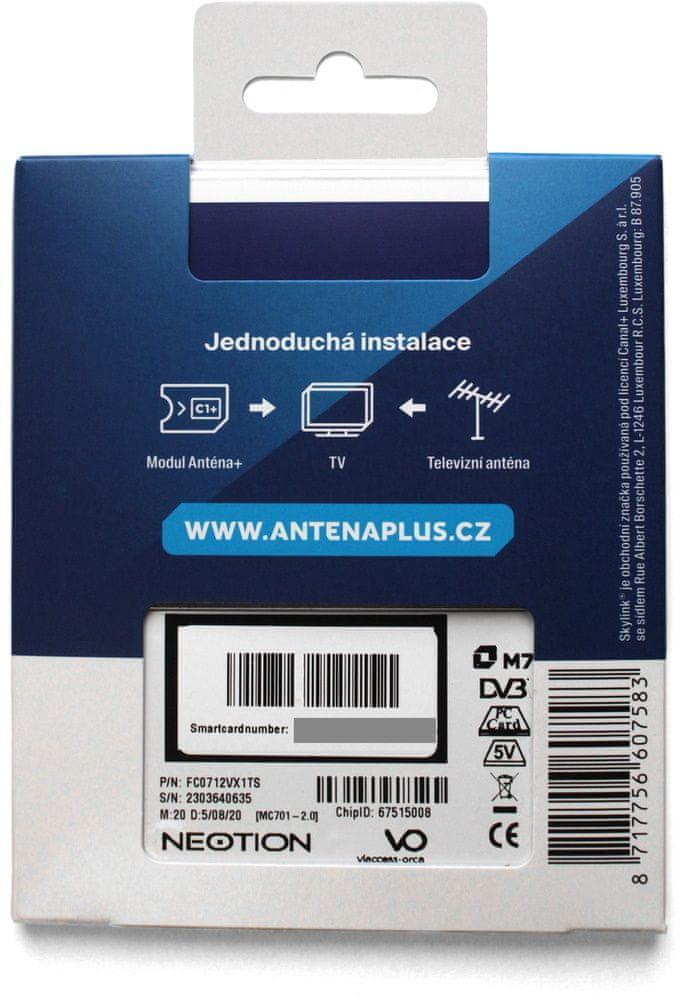Skylink Anténa+ dekódovací modul a karta
