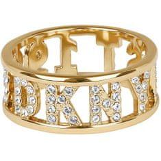 DKNY Trblietavý prsteň s logom New York 5547972 (Obvod 52 mm)