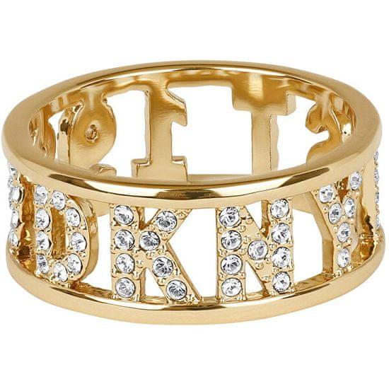 DKNY Trblietavý prsteň s logom New York 5547972