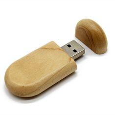 CTRL+C Owalny drewniany pendrive KLON, 32 GB, USB 2.0