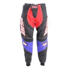 BOLDER 35 Kalhoty Motocross černo/modr/červ velikost 38