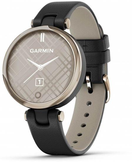 Garmin LILY Classic, Italian Leather, Cream Gold/Black