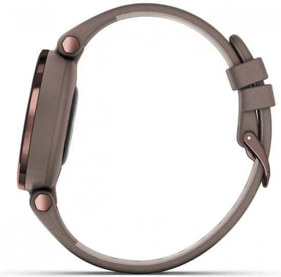 Garmin Zegarek LILY Classic, Italian Leather, Dark Bronze/Paloma