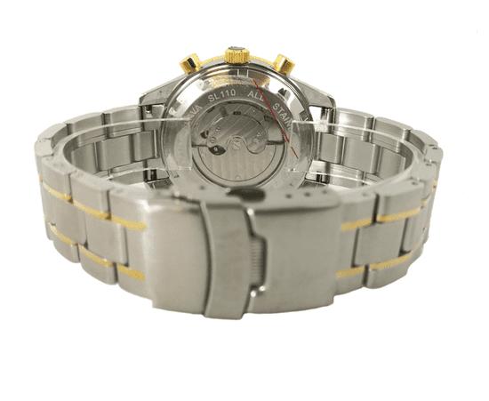 Slava Time Pánské automatické hodinky s ocelovým řemínkem SLAVA Barva: stříbrná, Velikost: UNI