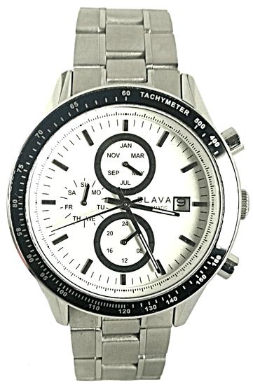 Slava Time Pánské automatické hodinky s ocelovým řemínkem SLAVA a bílým ciferníkem Barva: stříbrná, Velikost: UNI