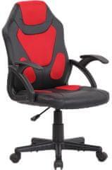 BHM Germany Detská kancelárska stolička Dano, čierna / červená