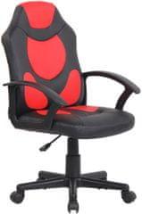 BHM Germany Detská kancelárska stolička Adale, čierna / červená