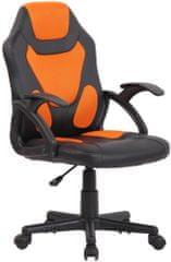 BHM Germany Detská kancelárska stolička Dano, čierna / oranžová
