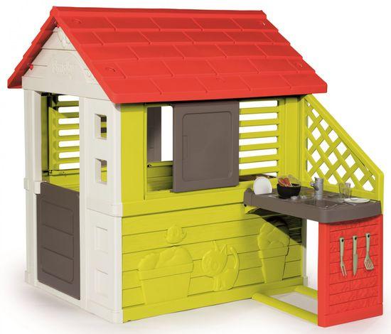 Smoby Gyerek házikó Pretty Nature konyhával