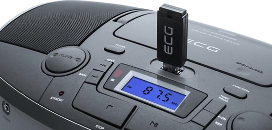 ECG Magnetofon CDR 1000 U Titan, srebrny