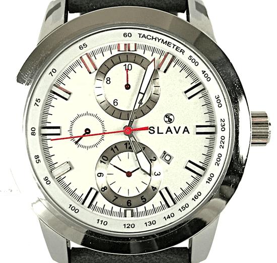 Slava Time Pánské masivní hodinky SLAVA s černým řemínkem Barva: černá, Velikost: UNI