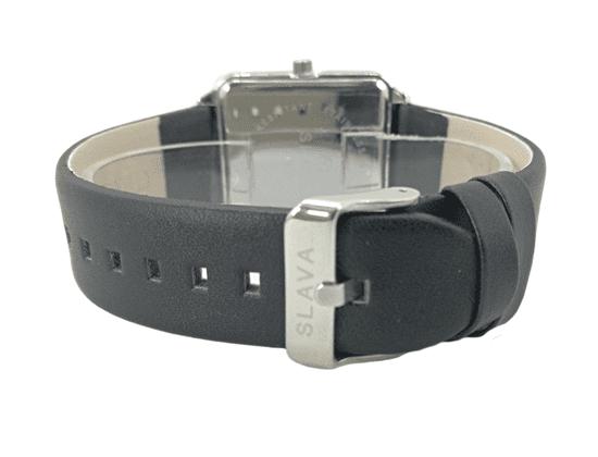Slava Time Pánské nadčasové hodinky SLAVA se smetanovým ciferníkem Barva: černá, Velikost: UNI