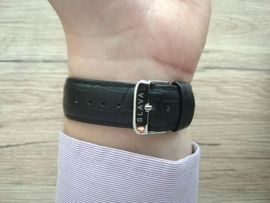 Slava Time Pánské automatické hodinky SLAVA ve stříbrném pouzdře Barva: stříbrná, Velikost: UNI