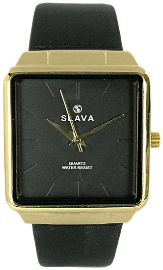 Slava Time Pánské nadčasové hodinky SLAVA zlato-černé Barva: černá, Velikost: UNI