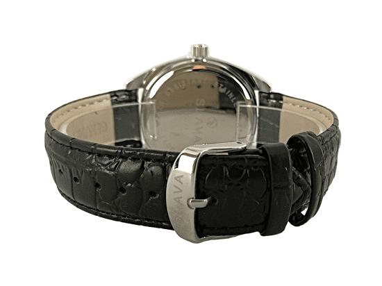 Slava Time Pánské černo-stříbrné elegantní hodinky SLAVA Barva: černá, Velikost: UNI