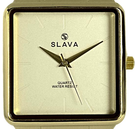 Slava Time Pánské nadčasové hodinky SLAVA zlato-hnědé Barva: hnědá, Velikost: UNI