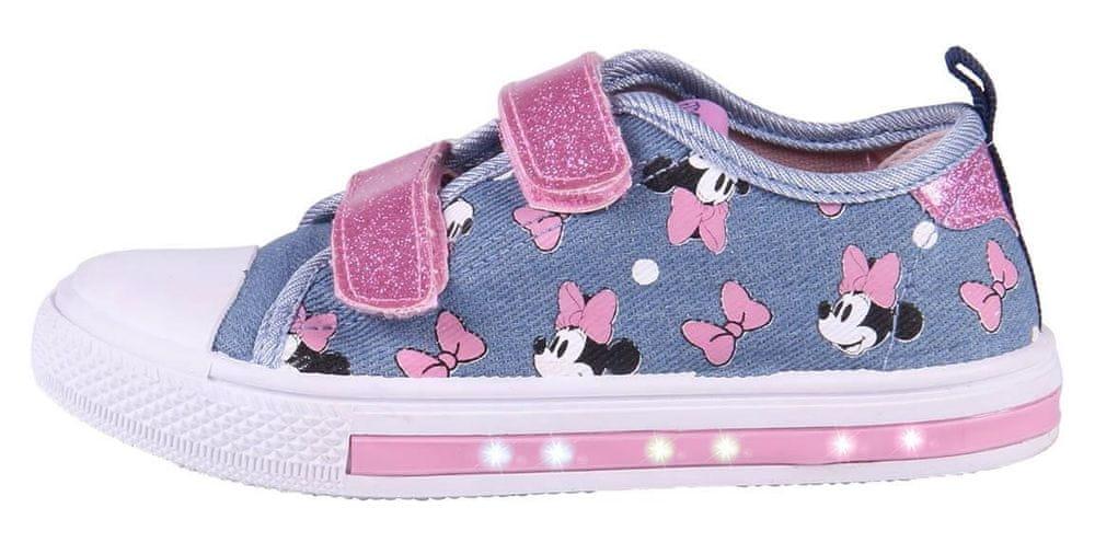 Disney dívčí svítící tenisky Minnie 2300004707 23 modrá