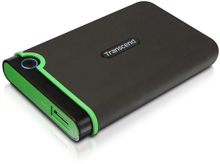 Transcend StoreJet 25M3S Slim 2TB, šedá/zelená (TS2TSJ25M3S)