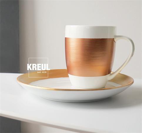 "KREUL Sada barev na sklo a porcelán ""METALLIC"", 6 x 20 ml"