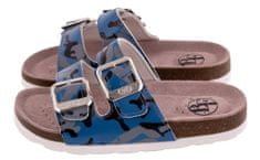 BF chlapecké celokožené pantofle BA5251116 28 modrá