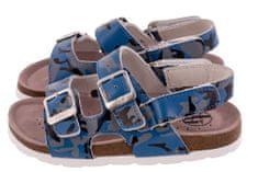 BF chlapecké celokožené sandálky BA5251117 31 modrá
