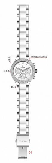 Slava Time Dámské zlato-černé hodinky SLAVA s kamínky Barva: černá, Velikost: UNI