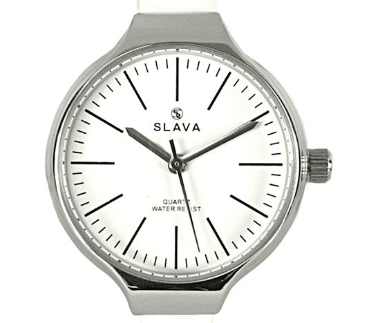 Slava Time Dámské elegantní hodinky s úzkým páskem SLAVA v bílé barvě Barva: bílá, Velikost: UNI