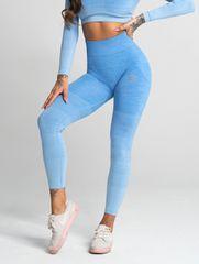 Gym Glamour Bezšvové fitness legíny Blue Ombre (SS20-GG2260/250) - Gym Glamour S