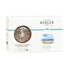 Maison Berger Paris Zestaw prezentowy dyfuzor samochodowy mosiądz +napełnić Zapach oceanu