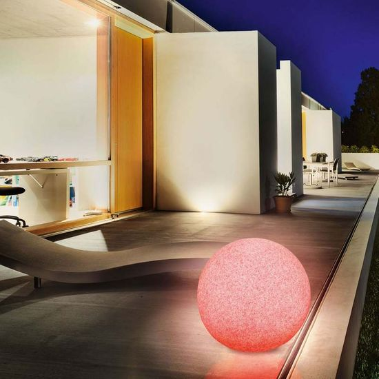 Esotec Solárna záhradná guľa Esotec Mega Stones 106022 50cm - kamenná