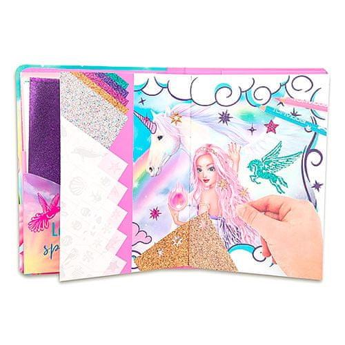 Fantasy Model Kifestőkönyv | Glitter Fun, Flitter matricák és sablonok