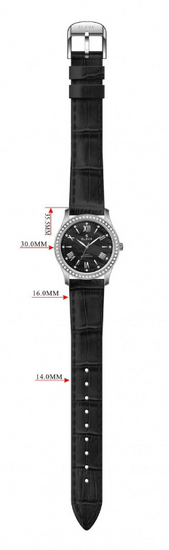 Slava Time Dámské bílé hodinky SLAVA ve zlatém pouzdře s kamínky Swarovski Barva: bílá, Velikost: UNI