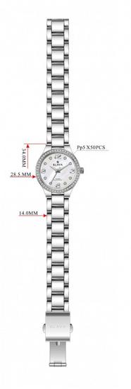 Slava Time Dámské zlaté hodinky SLAVA s perleťově bílým ciferníkem Barva: zlatá, Velikost: UNI