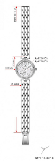 Slava Time Dámské stříbrné hodinky SLAVA s perleťovým ciferníkem Barva: stříbrná, Velikost: UNI