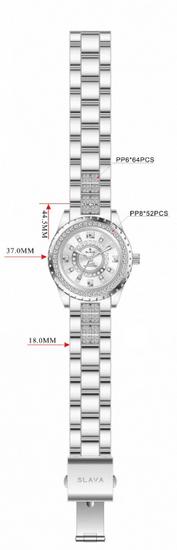 Slava Time Dámské zlaté hodinky SLAVA s kamínky na ciferníku a řemínku Barva: zlatá, Velikost: UNI