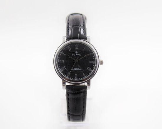 Slava Time Dámské malé hodinky s úzkým páskem SLAVA Barva: černá, Velikost: UNI