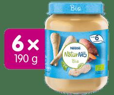 Nestlé NaturNes BIO Telecí maso s pastiňákem a batáty 6x 190g