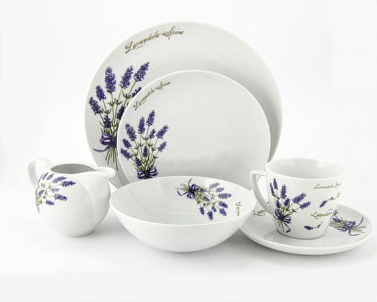 Lubiana Kombi súprava levanduľa šapo + taniere 32 dielov