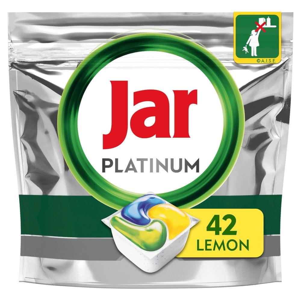 Jar kapsle do myčky Platinum Vše v jednom Lemon 42 ks