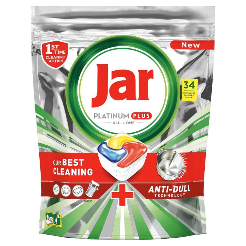 Jar Platinum Plus Vše v jednom Lemon Kapsle do myčky 34 ks