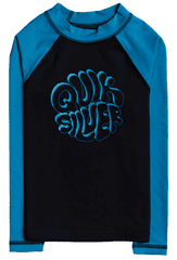 Quiksilver EQKWR03099-KVJ0 Bubble trouble ls boy fantovska kopalna majica, črna, 5