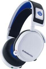 SteelSeries słuchawki gamingowe bezprzewodowe Arctis 7P, białe (61467)