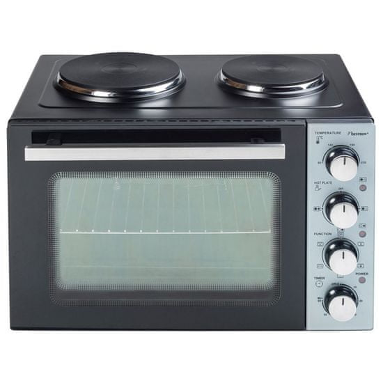 Bestron AOV31CP mini pečica, 31 l, 2 x kuhalna plošča