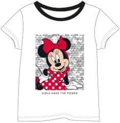 Disney dekliška majica Minnie 2200007011, 128, bela