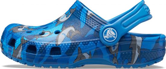 Crocs fantovski natikači Classic Shark Clog PS 206147-4KI