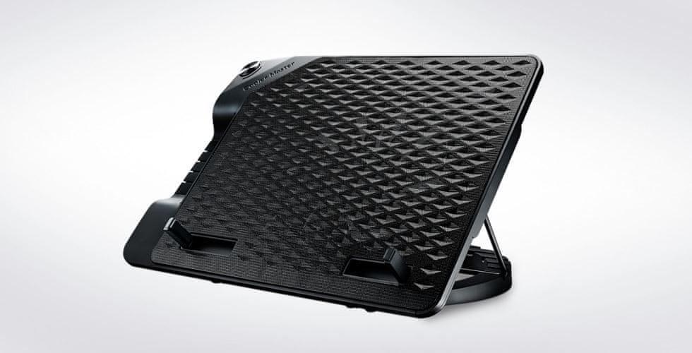 Cooler Master ERGOSTAND III, nastavitelná chladící podložka pod notebook, USB, 230 mm R9-NBS-E32K-GP, černá