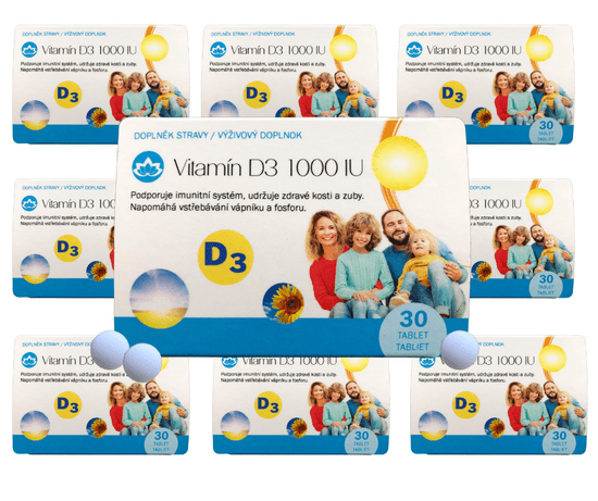 Novax Vitamín D3 1000 IU - roční balení 12x30 tablet