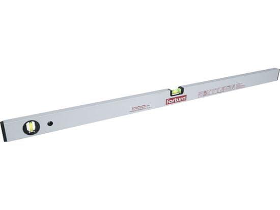 Fortum Vodováha hliníková 1000mm, 2 libely, presnosť 0,5mm/1m, plastové koncovky