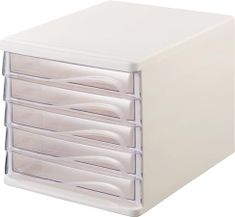 Helit Zásuvkový box, 5x zásuvka, šedý/transparentní, plastový