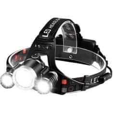 MG TD257 Headlamp žaromet 3x LED, črna